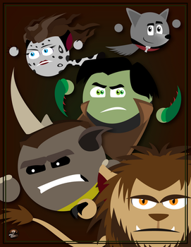 Creatures - SC Style by simpleCOMICS