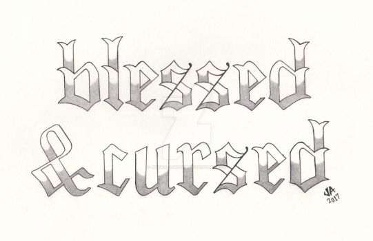 Blessed x Cursed Tattoo Design Variant by JesseAllshouse