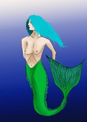 Mermaid (NSFW - Bare Breasts) by SpiritCurseMagic