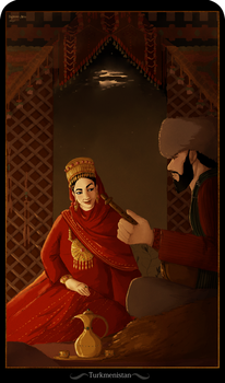 Cards of Asia - Turkmenistan by Bigsleeves-Arts