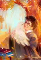 Harry and Hedwig by MarinaMichkina