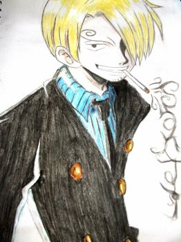 Watercoloured: Sanji by FadeElaDee