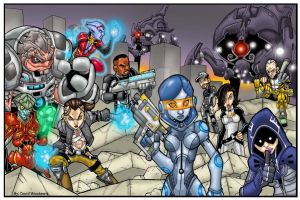 Mass Effect Group 2 by badgerlordstudios
