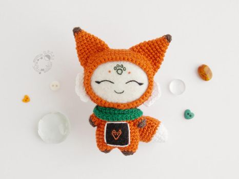 Fox, the Space Traveller by theAmigurumer