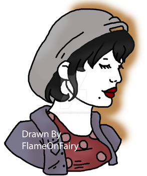 Another drawing of Loulabelle by FlameOnFairy