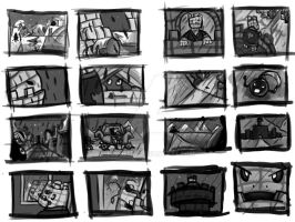Rusted - story boards pgs, 1-2 by toshema