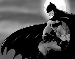 Batman Black And White by Mawnbak
