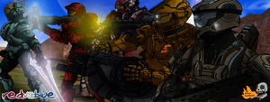 Red Vs Blue by BlindDeafGhost