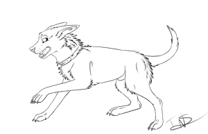 Free Dog lineart by xTheUndeadArmyx