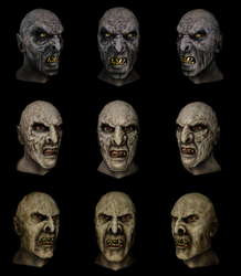 Orc heads 3D renders by Louis-Lux