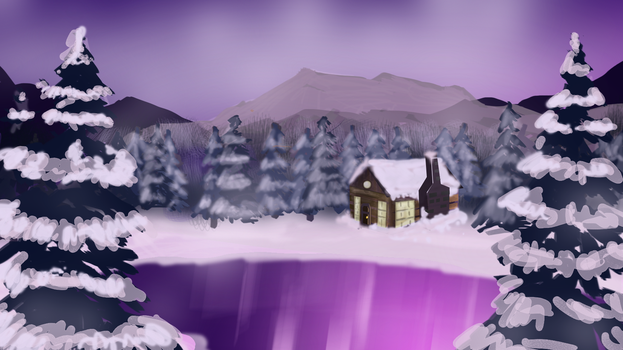 Winterlakeside by Whyled-Card