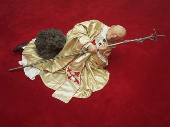 Sculpture Catellan Pope01 Lanonaora by CulturalMarxism