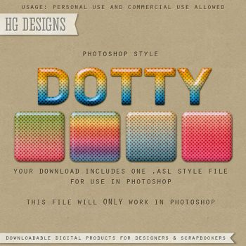 PS Style: DOTTY by HGGraphicDesigns