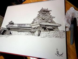 Utoyagura turret - Shogun totalwar's castle by HappyMorningStar