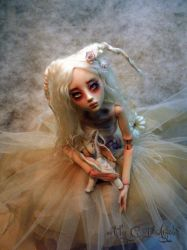 BJD ball jointed doll  Summer's Garden Bunny BB by cdlitestudio