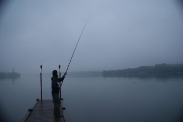 Fishing in the fog by elgregorPL