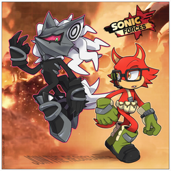 SONIC FORCES - Infinite and Rookie by Cylent-Nite