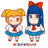 Pop Team by strawbanna