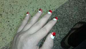PokeBall Nails by NikkiFirestarter