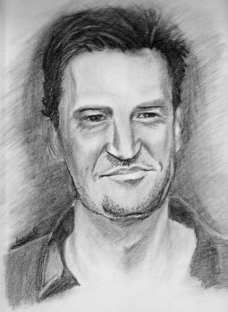 Chandler Bing Drawing Of mE by MrMiguelDomingo