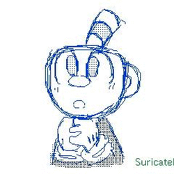 Cuphead and Mugman [Flipnote Animation TEST] by SuricateDash