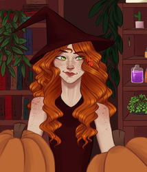 Reina as a witch by Little-Caracal