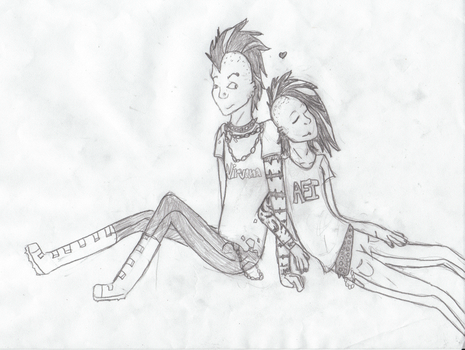 Punk love by Melandi