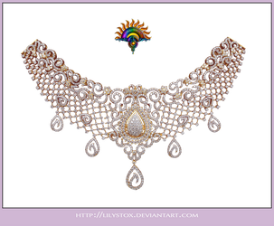 Diamond Collier Necklace 2 by LilyStox