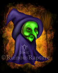 Mab's Drawlloween Club 2018 - Day One: Witch by RuinousRapture