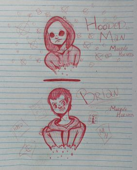 Brian | Hooded Man - Marble Hornets Sketch by Psycho-kun12