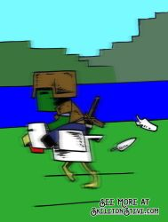 Minecraft Diary of a Chicken Jockey Battle Steed 3 by skeletonsteveco