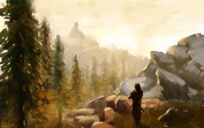 Dawn in the Mountains by Asdeath