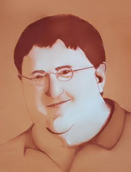 Gabe Newell (Anon-Edit) by McTwistywhiskers