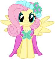 Royal Wedding: Fluttershy by JennieOo