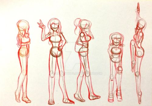 poses sketch practice by MaryMythos