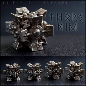 Thors Die D6+8 - 3D Printed in Steel by MANDELWERK
