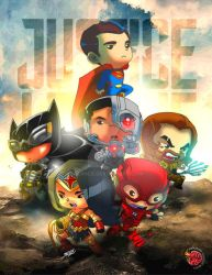 THE JUSTICE LEAGUE by bernce