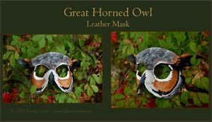 Great Horned Owl -Leather Mask by windfalcon