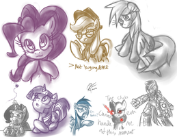 Sketches of the random kind by leadhooves