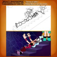 Mighty MagiSwords Storyboards - Prohyas v stairs by artbylukeski
