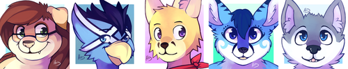 Commission: Icon set 8 by NERD-that-DRAWS