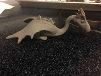 Clay dragon by princessfromthesky