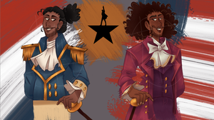 Lafayette and Jefferson by axolotlsketches
