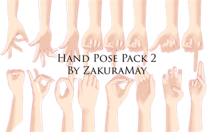 [Big Hand pose Pack2] Download by Metra-Philia