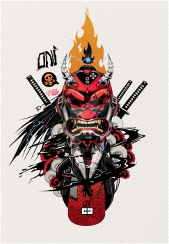 PSY-ONI RED-800px by Kloudhandz