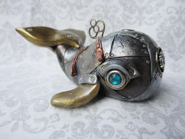 Steampunk - Industrial Whale 2a by tanyadavisart