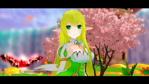 (MMD ELSWORD) RENA GRAND ARCHER MODEL DL!+video by Cresitonia