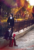 Okumura twins in park 8 by signore-illusionista