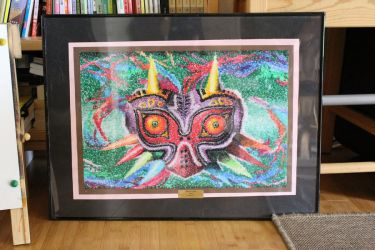 Majora's Mask Pointillism by KawakineAlice