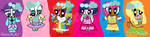Mane 6 in Bridesmaid Dresses (PPG) by Daracoon911